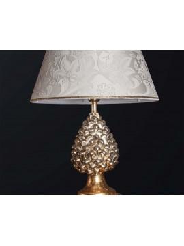 Lampada a pigna media in ceramica classica foglia oro 1 luce BGA 3183-lm