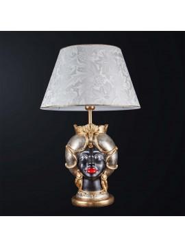 Lampada testa di moro donna in ceramica classica h.65cm BGA 3186-l