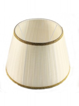 Lampshade in pleated ivory organza D.35cm