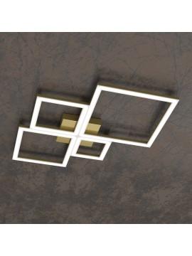 Plafoniera moderna a led per soggiorno camera design oro tpl 0070