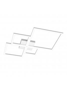 Plafoniera moderna grande a led per soggiorno camera design bianco tpl 0071