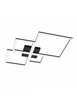 Plafoniera moderna grande a led per soggiorno camera design nero tpl 0072