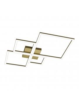 Plafoniera moderna grande a led per soggiorno camera design oro tpl 0073