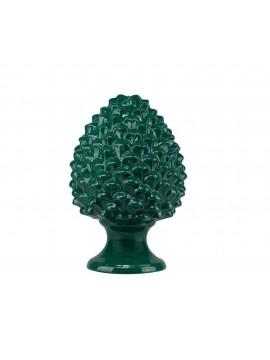 Pigna moderna in ceramica siciliana colore verde 32 cm Harmony