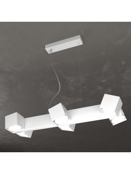 Lampadario moderno con faretti orientabili bianco per studio 6 luci tpl 0126