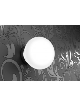 Modern white sphere wall light 1 light tpl 1092-a