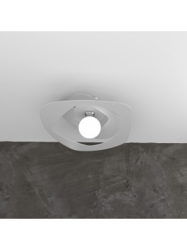 Plafoniera moderna laser grigio per soggiorno cucina 1 luce tpl 0130