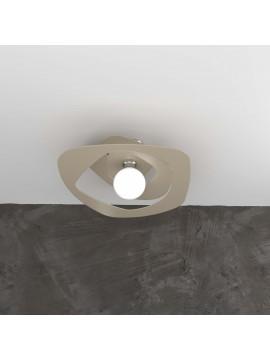 Plafoniera moderna laser tortora per soggiorno cucina 1 luce tpl 0131