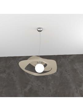 Lampadario a sospensione moderno tortora per cucina 1 luce tpl 0132