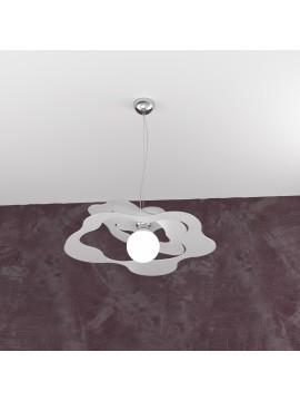 Lampadario moderno grigio per cucina stanzetta 1 luce tpl 0134