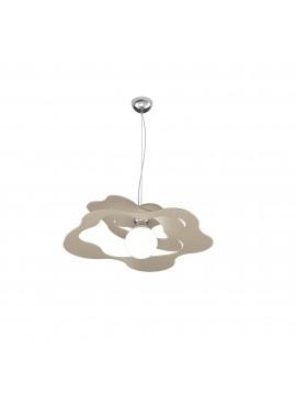 Lampadario moderno tortora per cucina stanzetta 1 luce tpl 0135