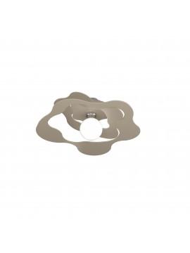 Plafoniera moderna tortora per cucina stanzetta 1 luce tpl 0136
