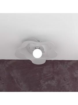 Plafoniera moderna grigia per cucina stanzetta 1 luce tpl 0137