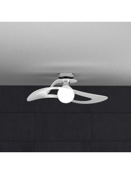 Plafoniera moderna bianca per cucina stanzetta 1 luce tpl 0138