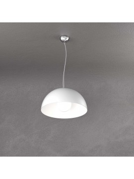 Lampadario a sospensione moderno bianco per cucina studio 1 luce tpl 0142