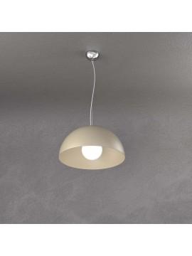 Lampadario a sospensione moderno tortora per cucina studio 1 luce tpl 0144