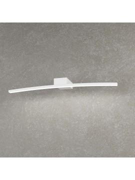 Applique da parete a led moderno curvo bianco per bagno 6w tpl 0146