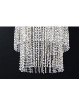 Plafoniera classica scascata di cristallo design swarovsky 5 luci BGA 3191