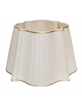 Shaped ivory lampshade D.40cm pleated pongè