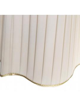 Paralume margherita avorio D.25cm pongè plissettato