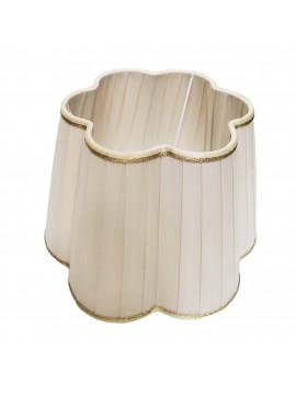 Ivory daisy lampshade D.25cm pleated pongè