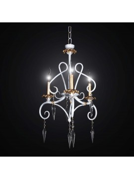 Classic chandelier in wrought iron and crystal with 3 lights BGA 2244-3sp