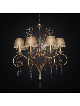 Classic chandelier in wrought iron and crystal with 8 lights BGA 2244-8cp