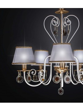 Classic chandelier in wrought iron and crystal 5 lights BGA 2257-5