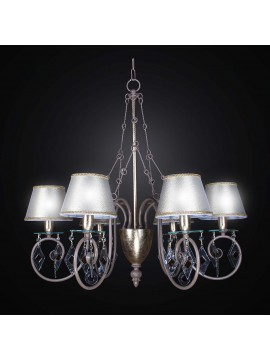 Classic 6-light dove gray wrought iron chandelier BGA 2258-6