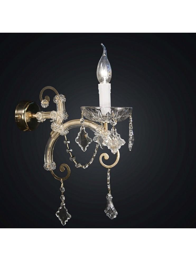 Applique in cristallo classico 1 luce Design Swarovsky BGA 1604
