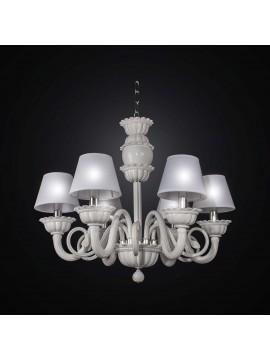 Classic 6 lights white crystal chandelier BGA 2389-6