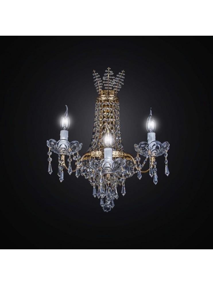 Applique parete cristallo classico 3 luci DESIGN SWAROVSKY