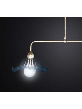 Classic 2-light gold brass rocker chandelier BGA 2450-b2
