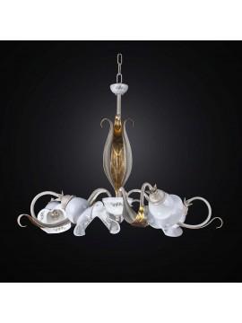 Classic 5-light gold leaf ceramic chandelier BGA 2524-5