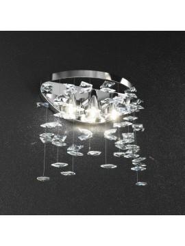 Applique 3 luci con cristalli quadrati tpl 111o/a