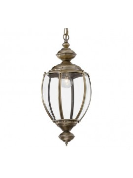 1 light classic chandelier with burnished Norma glass
