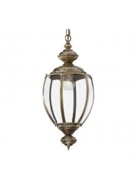 Lampadario classico 1 luce con vetro Norma brunito