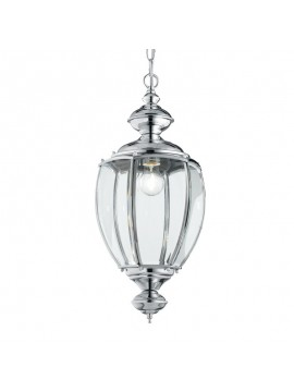Classic chandelier 1 light with glass Norma chrome