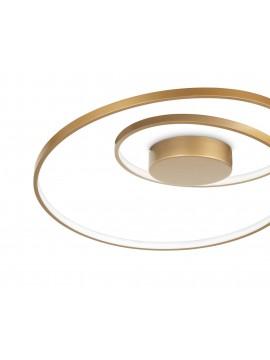 Plafoniera a led design moderno oro per cucina soggiorno DL1620