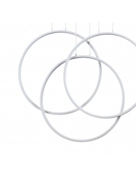 Modern led chandelier design white circles living room kitchen DL1627