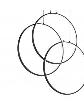 Modern led design black circles chandelier living room kitchen DL1628