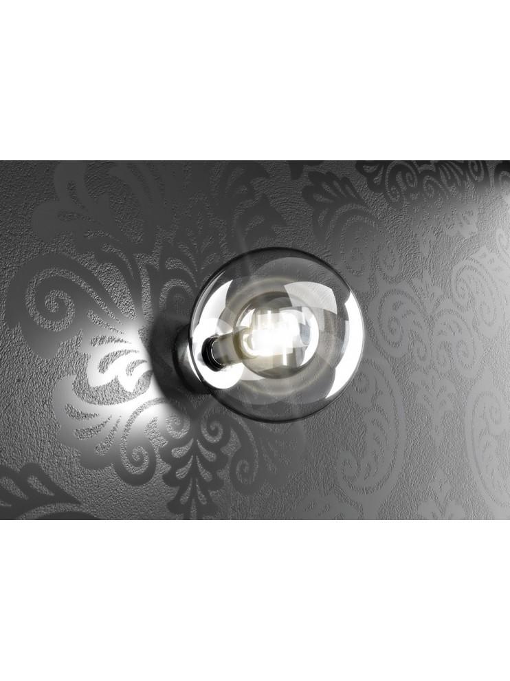 Applique 1 luce con sfera in vetro tpl 1098-atr