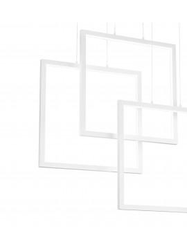 Modern white square design led chandelier living room kitchen DL1630