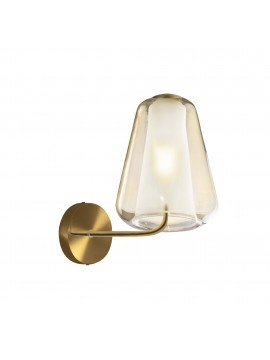 Modern gold and amber wall light for living room 1 light tpl 0893