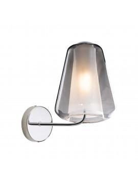 Modern chrome and smoked wall light for living room 1 light tpl 0894