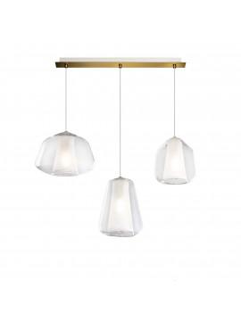 Modern gold and transparent chandelier for living room kitchen 3 lights tpl 0896
