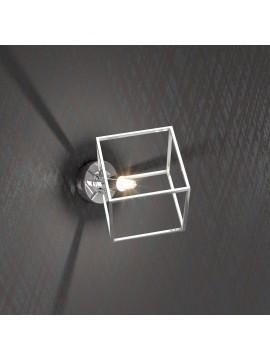 Applique 1 luce cubo cromato tpl 1125-a