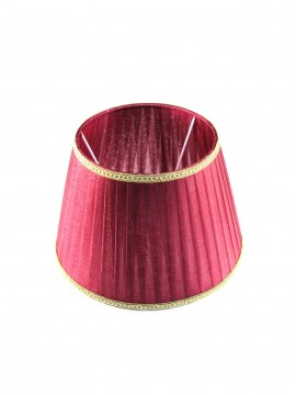Lampshade in red-bordeaux organza plisse D.35cm