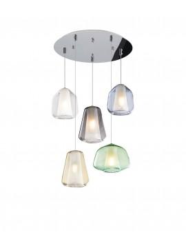 Modern multicolor chandelier for living room 5 lights tpl 0903