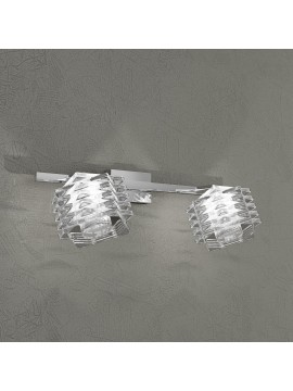 Wall lamp 2 lights chrome plated crystals tpl 1126-f2